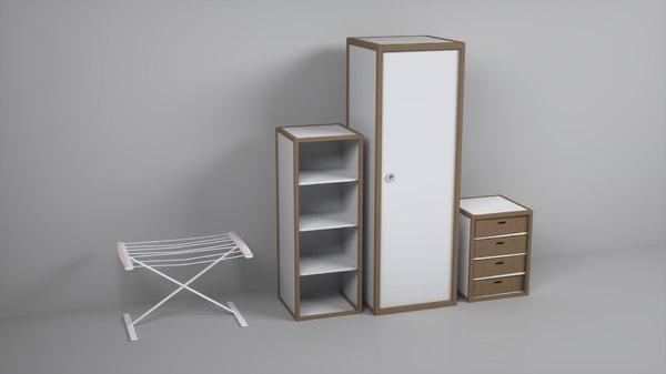 3D pack closet