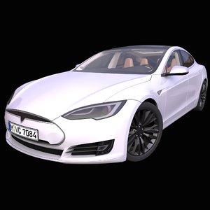 generic electric sedan interior car 3D