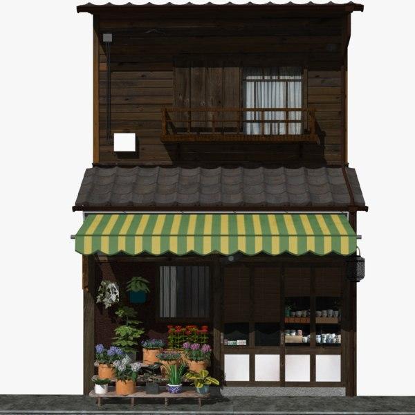 3D model old florist store