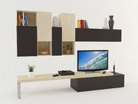 3D modern tv unit