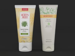 burts bees body lotion 3D model