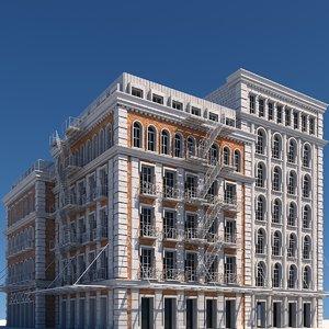 3D model tenement buildings