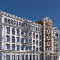 tenement buildings 3D