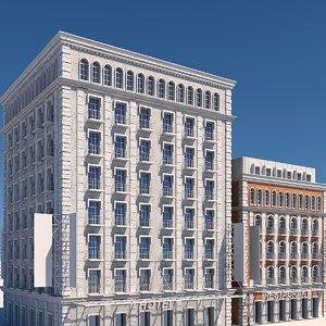 tenement buildings 3D model