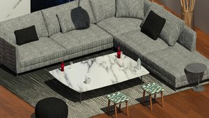 living room revit 3D model
