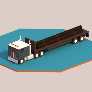 3D truck ready games model