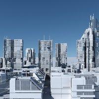 Futuristic Sci-Fi Skyscrapers 001