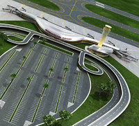 Realistic Airport with Car park