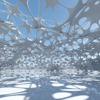 futuristic architectural model
