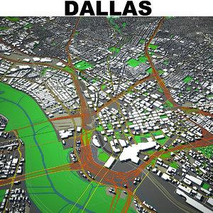 3D model dallas cityscape