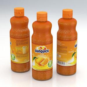 3D beverage orange model