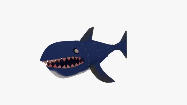 3D shark robot