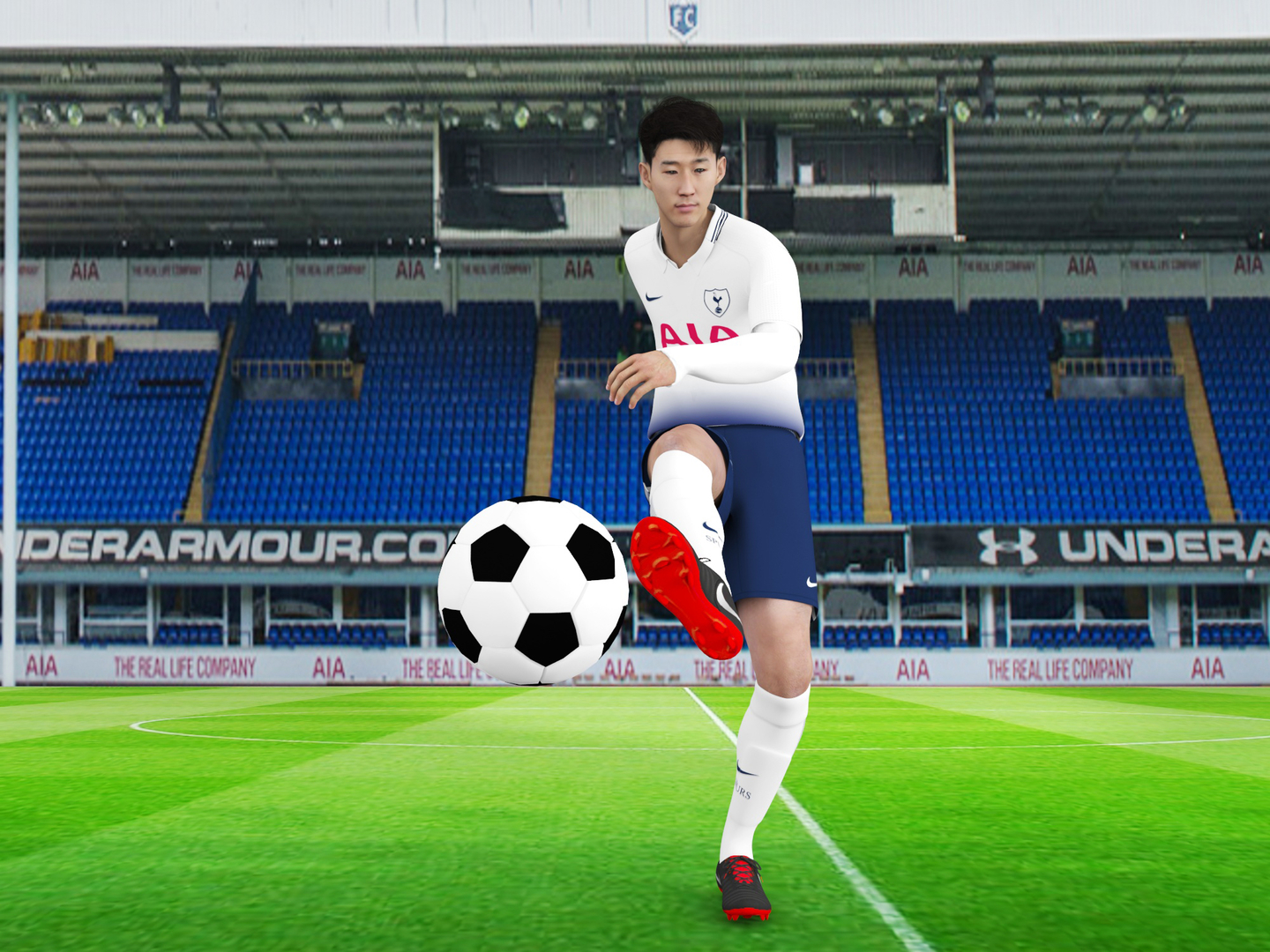 rigged son heung min 3D model