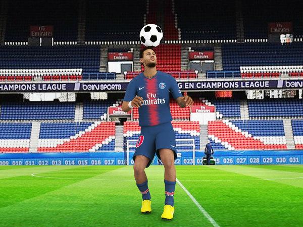3D model rigged neymar