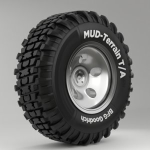 3D wheel tire vehicle disk model