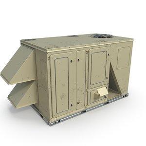 3D rooftop ac unit model