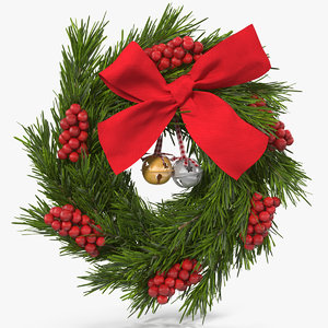 christmas wreath bells 3D model