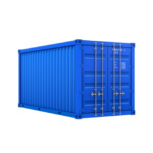 3D modeled cartoon cargo container model