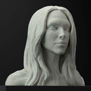 female head sculpt model