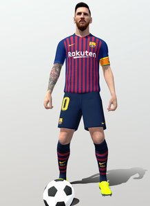 3D rigged lionel messi model