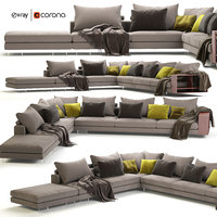 flexform lightpiece modular sofa model