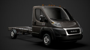 3D ram promaster chassis truck model