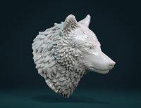 Printable Wolf Head III