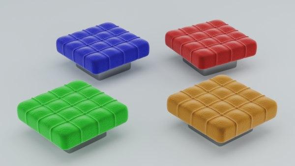 3D ottoman pouf