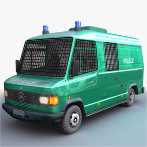 3D german police - van model