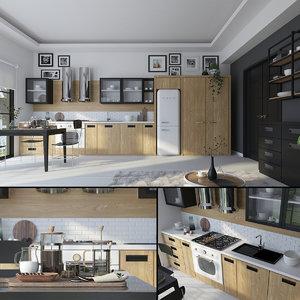 hygge kitchen 3D model