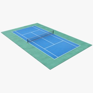 3D model real tennis pitch
