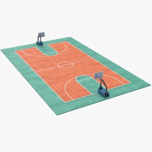 real basketball pitch model
