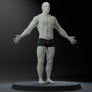 3D male body model