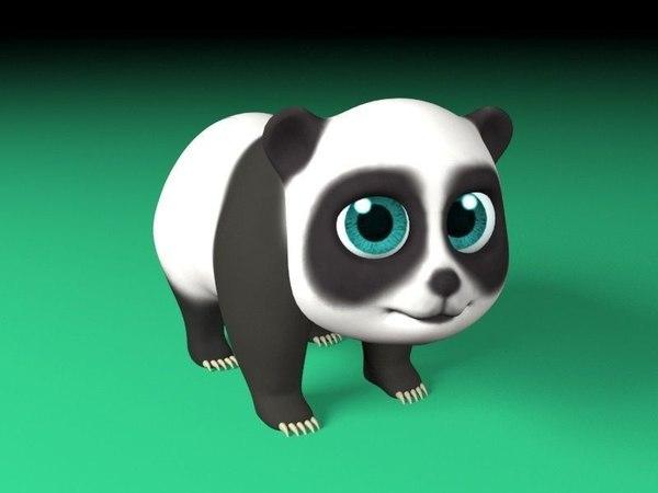 art panda cartoon 3D model