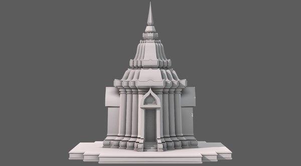 3D temple pagoda v05