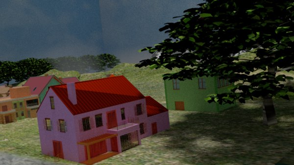 lowest houses 3D model
