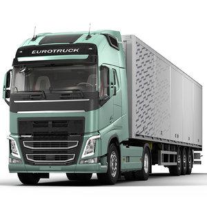 truck trailer eurotruck 3D model