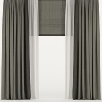 curtains tulle roman model