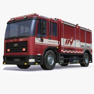 korean firetruck 3D