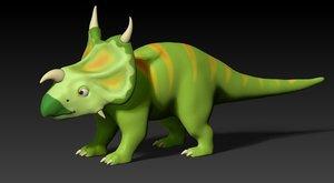 3D model dino cartoon