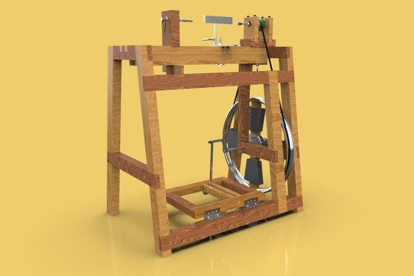 3D lathe machine tool work