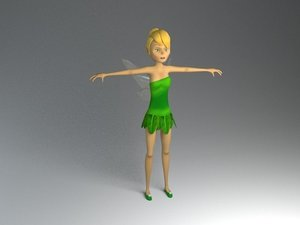 3D fairy character rigged model