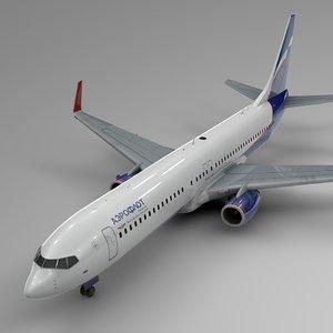 3D model aeroflot boeing 737-800 l420