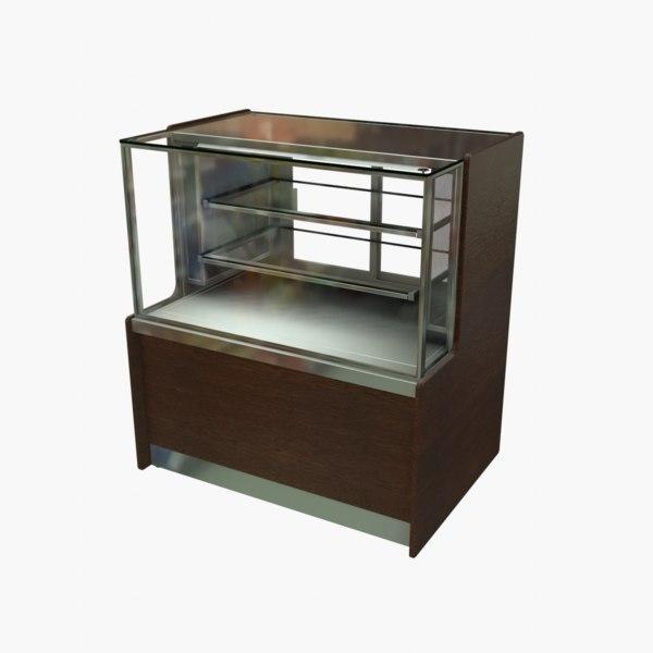 meat cold food display 3D model