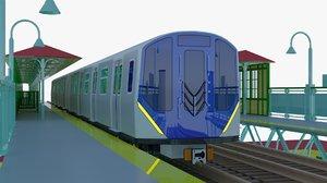3D model nyc metro train