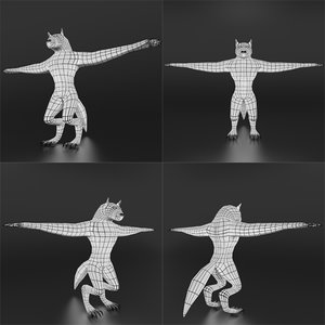 werewolf base mesh 3D model