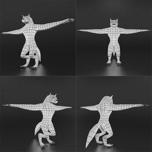 werewolf base mesh 3D model