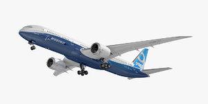 3D boeing 787-9 dreamliner