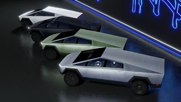 tesla cyber truck colors 3D model
