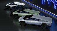 Tesla Cyber Truck textured Four colors Cybertruck Elon Musk